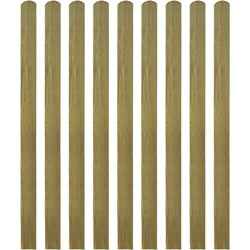 Daonanba Grille de clôture robuste et stable Décoration de jardin Bois imprégné 140 cm