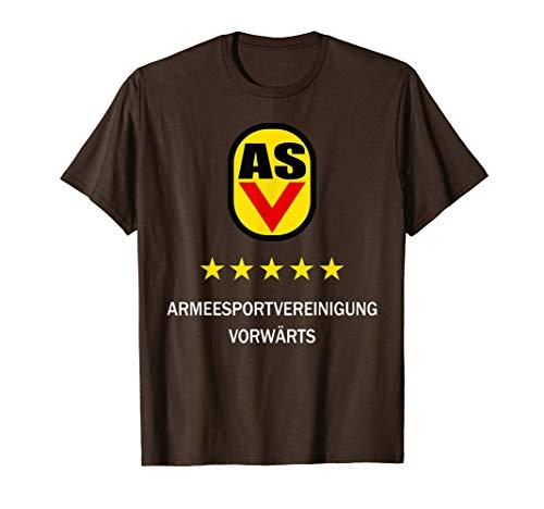 Herren DDR NVA Armeesportvereinigung Vorwärts ASV Geschenk Ossi T-Shirt