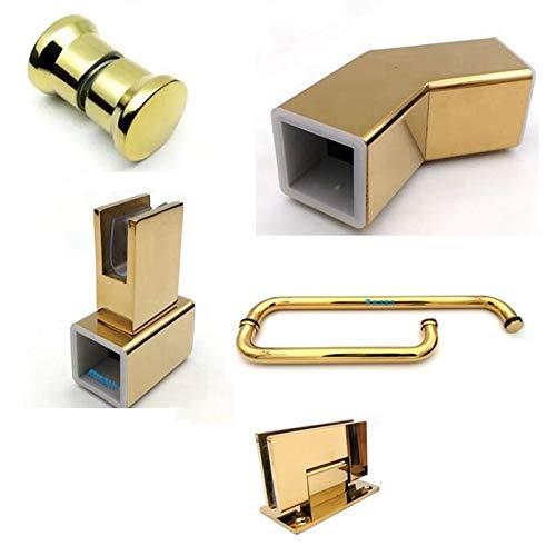 Conector dorado para mampara de ducha, bisagra para puerta de ...