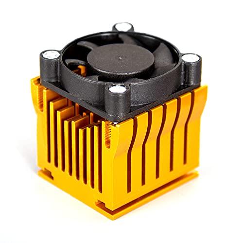 Enfriador de disipador de Calor con Ventilador de 4 cm, radiador de Placa Base de chipset de Puente Sur Norte de Aluminio para PC