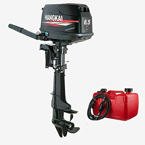 Outboard Motor, 6.5HP 4 Stroke Boat Engine Motor Water Cooling & CDI for Fishing Aquaculture Outdoor Adventure Boat
