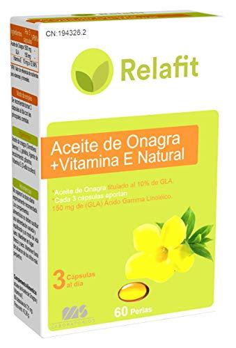 Relafit Aceite de Onagra + Vitamina E Natural - 60 Perlas