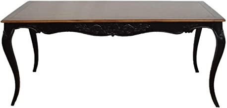 Casa Padrino Baroque Dining Table Antique Black/Wood Color Mahogany 180 cm - Table