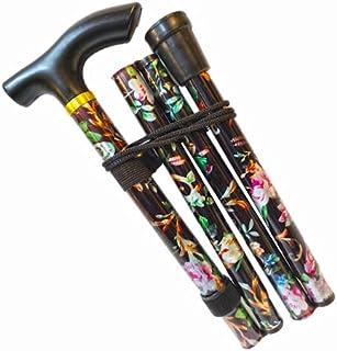 Bastón para caminar, fácil de ajustar, plegable, extensible, ligero, flexible y duradero, ayuda a la movilidad, bastón plegable para caminar