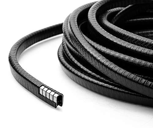 Auto-Kantenschutz 8m von KING KONG STATE l Autotür-Kantenschutz schwarz aus Kautschuk l Gummiprofil inkl. Metallverstärkung