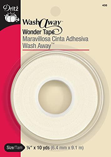 Dritz Wash Away Wonder tape, 1/4-Inch by 10-Yards, White