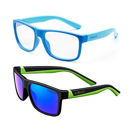 Kids Polarized Sunglasses and Blue Light Glasses