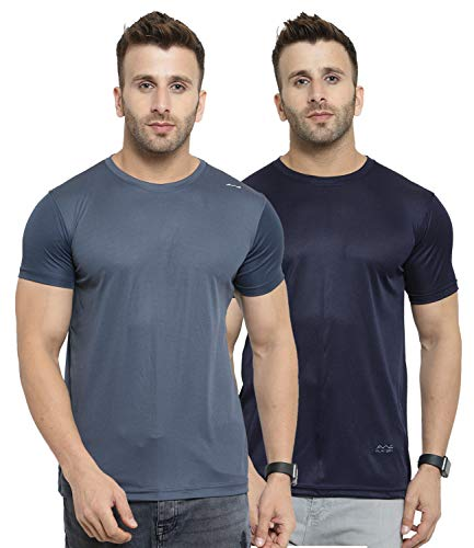AWG ALL WEATHER GEAR Men's Polyester Round Neck T-Shirts – Pack of 2