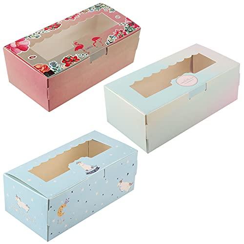 Clyhon 12 piezas, tres cajas de regalo de estilo, utilizadas para galletas, tartas, pasteles, empaques, cajas de regalo, productos horneados, juegos de contenedores.