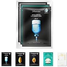 JM Solution Face Mask [10 Pack] Hydrating Collagen Facial Masks - Pore Minimizer - Peel Off Sheets - Korean Beauty Skin Care - Moisturizing Sheet Pack