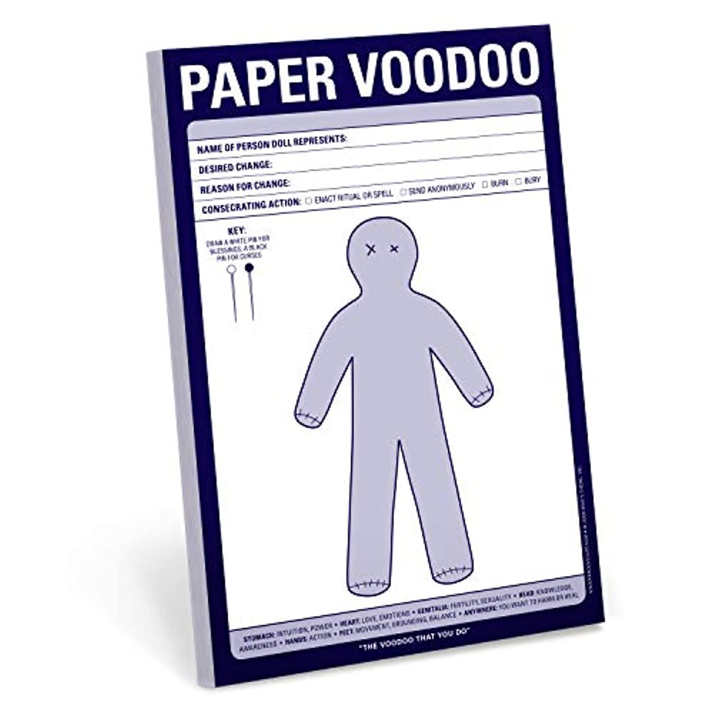 Knock Knock Paper Voodoo Note Pad, 6 x 9-inches