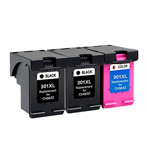 ZITENG CGBH Cartucho 301XL Compatible con HP 301 XL for el Cartucho de Tinta HP301 for HP Envy 5530 Deskjet 2050 2540 2510 1000 1050 Impresora (Color : 2 BK 1 Color)