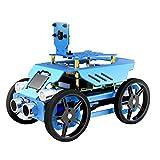 EmNarsissus Educación científica Tres en uno Aleación de Aluminio Evitación automática de obstáculos Detección de Movimiento Robot de Coche clásico de Cuatro Ruedas