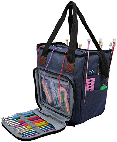 Yarn Storage Bag Large Capacity Portable Knitting Tote Bag Hxytech Crochet Storage Organizer product image
