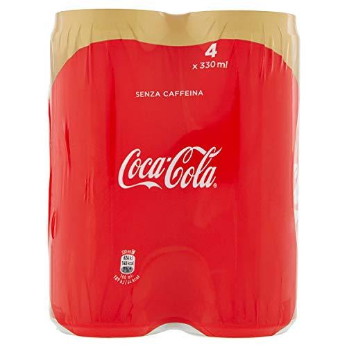 Coca-Cola Senza Caffeina lattina 33 CL (confezione da 4)
