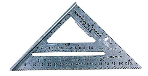 Swanson Tool S0101 7-inch Speed Square Layout Tool with Blue Book, New