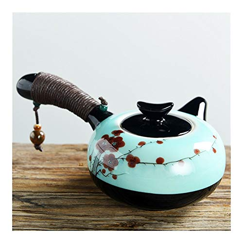 Creative 200ML Ceramic Chinese Kung Fu Tea Pot Porcelain Tea Set Celadon Teapot Vintage Hand Painted Kung Fu teapot (Color : 6)