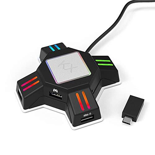 Adaptateur de Souris Clavier Convertisseur de contrôleur de Manette de Jeu pour PS4 PS3Xbox One pour Nintendo Switch FPS Accessoires de Jeu Performance Facile à Utiliser Durable