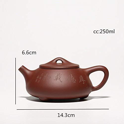 Tetera Arena Morada Tetera Hierro Fundido China Yixing Teaware Stone Scoop Tea Pot Tetera De Arcilla Púrpura Auténtica Tetera 188 Agujeros De Bola 250Ml