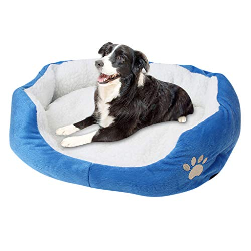 Balock Schuhe Hundebett,Haustier Welpen Katzen Fleece Warmes Bett Haus-Plüsch,Hundebett Hundekissen Hundesofa Hundekorb,Waschbar,Hygienisch und rutschfest,für Drinnen, Draußen (Blau)