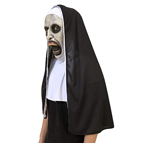 Cosplay Scary Horrible Nun Melting Face Latex Costume Halloween Masquerade, Toys and Hobbies (As Show)