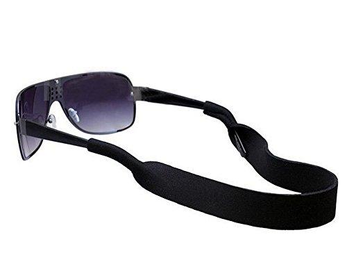Sport unisex in neoprene occhiali cordino elastico Sunglass Eyewear fermo nero per uomini e donne