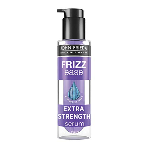 John Frieda Frizz Ease Extra Strength Serum, Nourishing Hair Treatment for Dry, Damaged, Frizzy Hair, Frizz Control and Heat Protectant with Bamboo Extract, Unscented, 1.69 Fl Oz