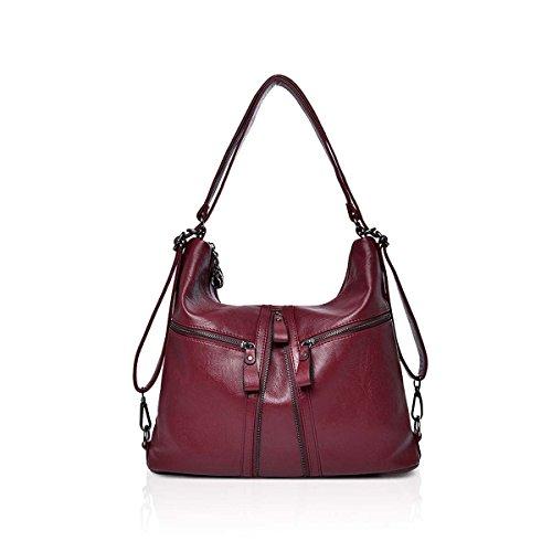 NICOLE & DORIS stor rea dam PU-läder vintage axelväska damhandväskor tygväska mode handväska cross-body väskor