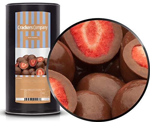 1 x 600g Gefriergetrocknete Erdbeeren in feinster Vollmilchschokolade in Deutschland hergestellt Premium Qualität