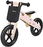 HyperMotion Bici in legno per bambini dai 2,5 anni in su, con sedile regolabile, per imparare a...