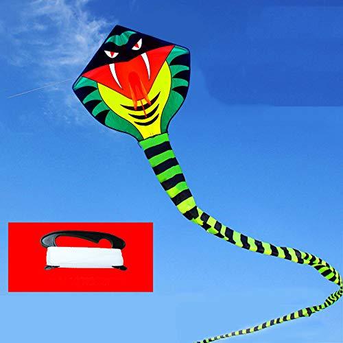 ZCFXGHH Jongens en meisjes, de python-kite is 10 m lang, enorme draak, voor kinderen en volwassenen, spelen buitenshuis, zomer, kinderspeelgoed, geschenken 90 x 90 cm (35,43 x 35,43 in), Kite+100 m line