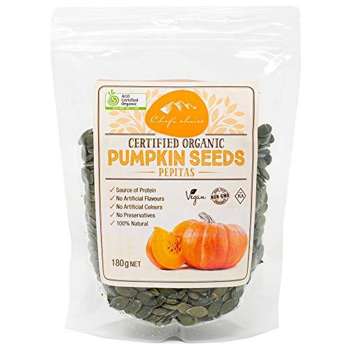 シェフズチョイス オーガニックパンプキンシード Certified Organic Pumpkin Seed Pepitas 有機かぼちゃの種 (180g1袋)