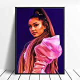 xiangpiaopiao Póster De Ariana Grande, Cantante Estrella De La Música, Pintura Artística De Belleza, Póster En Lienzo, Cuadros De Pared para Sala De Estar, Decoración del Hogar, 50X70 Cm (6R-6660)