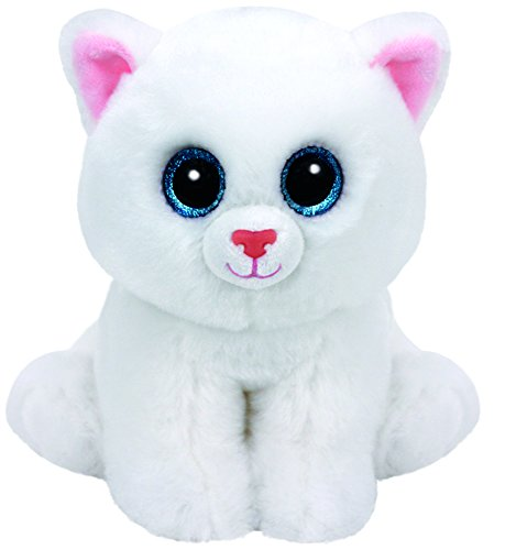 Carletto Ty 90236 Pearl White Cat Plüschtier, Mehrfarbig
