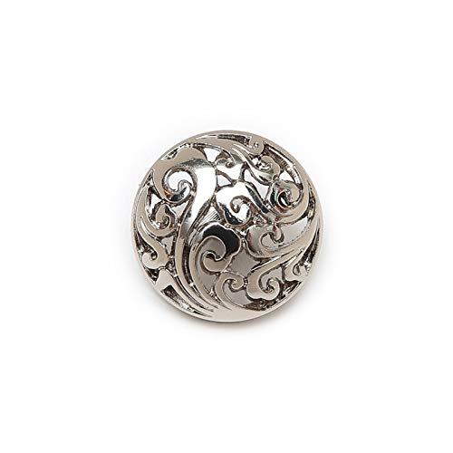 Accessori per abiti 5pcs Pulsanti in metallo cavo rotondo per cucire Scrapbook Giacca Blazer Maglioni Regali Artigianato Artigianato Abbigliamento 12.5-25mm per decorazioni artigianali fai da te