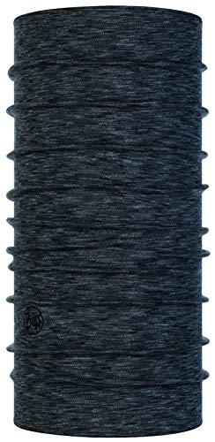Buff 100% Merinowolle Tuch Midweight Merino Multifunktionstuch + Ultrapower Schlauchtuch/Unisex/Schal/Kopftuch/Halstuch/Schlauchschal Graphite Multi Stripes - 117820.901.10.00