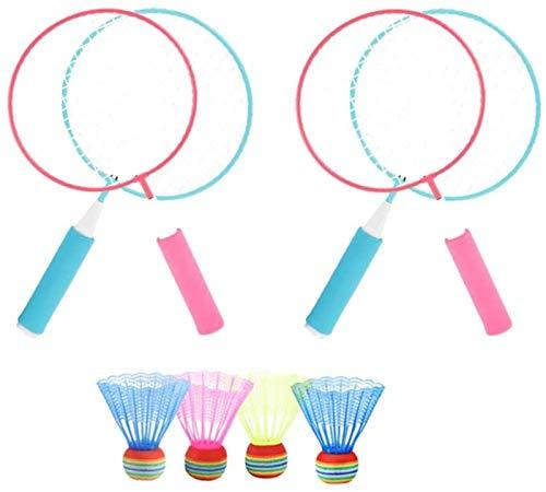 RENFEIYUAN 8 stücke Kinder Badminton Set Spiele Badminton Schläger und Bälle Sports Badminton Spiel Spielzeug Kinder Frühe Entwicklung Spielzeug Für Kinder Kinder Badminton Sets