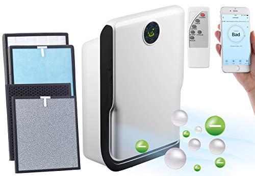 Sichler Haushaltsgeräte Luftwäscher: 6-Stufen-Luftreiniger mit UV, Ionisator, WLAN, inkl. Ersatzfilter (Luftreiniger appgesteuert)