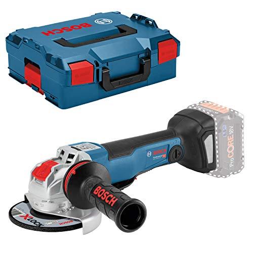 Bosch Professional GWX 18V-10 PC Amoladora angular, X-LOCK, conectable, diámetro disco 125mm, hombre muerto, sin batería, en L-BOXX, 18 V, Azul, Size