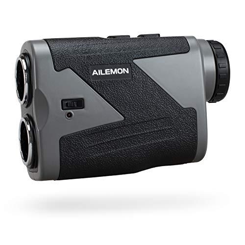 AILEMON - Telémetro láser para golf o caza de 1000 a 1200 yardas de aumento de 6 aumentos USB, 1000Y, Gris