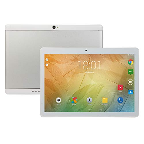 Android Tablet PC 10 inch, Octa-Core Processor, 4GB RAM, 64GB ROM, 5G-WIFI,Bluetooth, GPS, IPS HD Display, V4 (Silver)