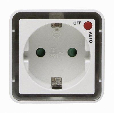 Kop-nachtlampje met 2 leds. max. 3.680 W, mit Schalter AUTO/AUS