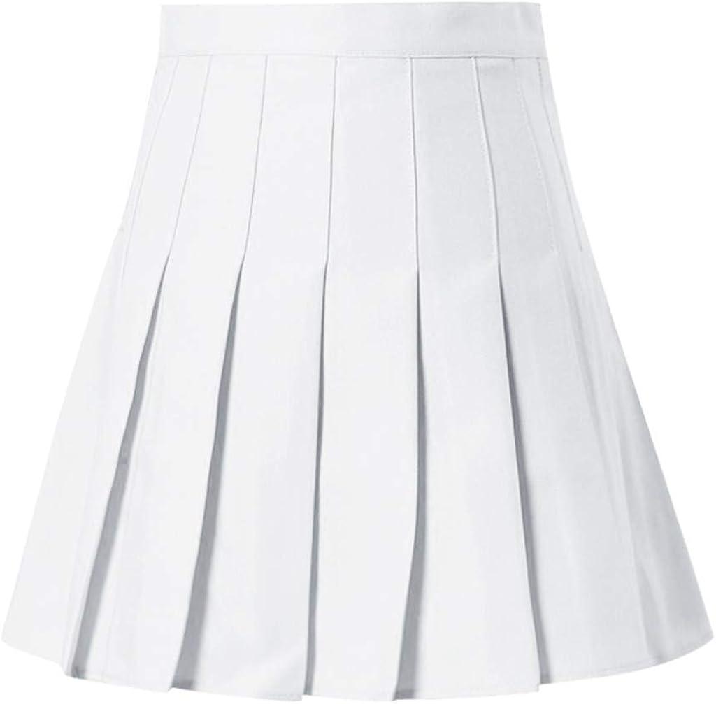 KOBAY V2 Taille Haute Jupe Anti-lumi/ère Une Jupe Jupe Jupe de Tennis d/écontract/ée /à la Taille Haute et /à la Taille Haute pour Femmes Schmidz