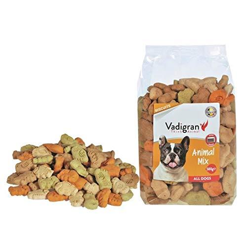 VADIGRAN Biscotti Snack per Cani a Forma di Animali con Carne e vitamine - Confezione da 500 gr - 500 ml