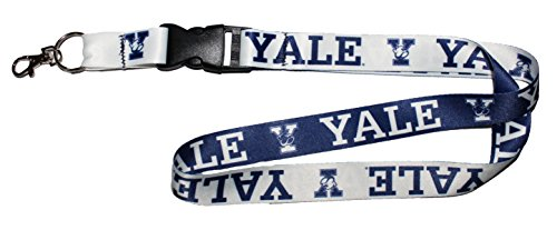 WinCraft NCAA Yale University Bulldogs Premium Lanyard, 23 inches Long, 1 inch Wide