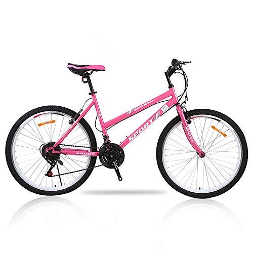 Fácil De Montar,26 Pulgadas Mujeres Bicicleta,Bicicleta De Carretera City Bike,Marco De Acero De Alto Carbono,Adulto Bicicleta De Montaña,con Doble V-Freno,Suspensión Delantera-B 26inch