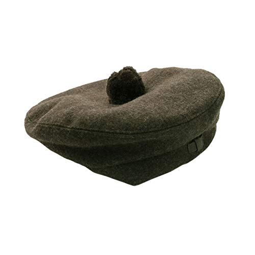 The Celtic Croft Felted Wool Khaki Military-Style Balmoral/Tam (7.5)
