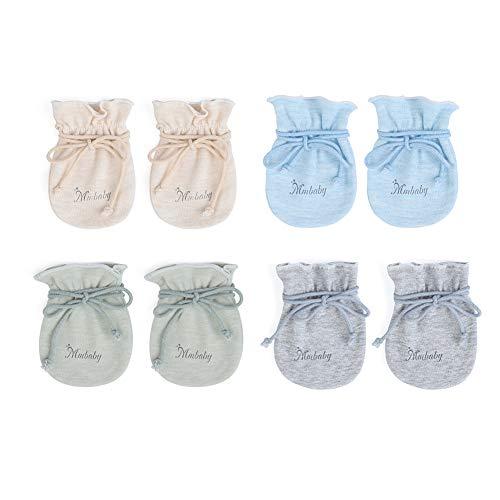 MMBABY 4 Paare Neugeborenen Handschuhe.Alter: 0-6 Monate (4 Paare(0-6 Monate)