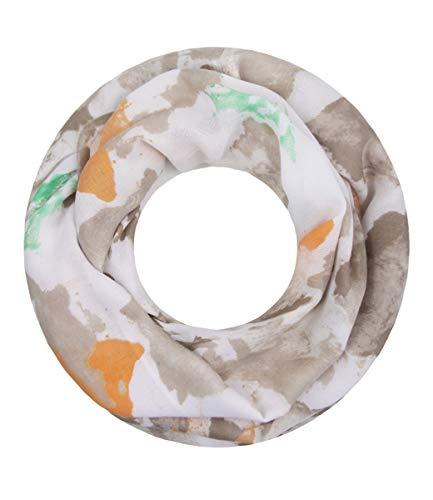 Majea Majea super weicher Damen Loop Schal viele Farben Muster Schlauchschal Halstuch in aktuellen Trendfarben (beige 18)
