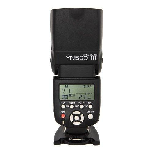 Yongnuo YN560 III LCD Flash Speedlight Speedlite Compatibile con Canon 1D 5D 6D 7D 60D Nikon Pentax Olympus LF242